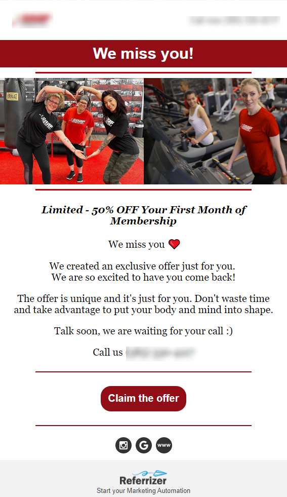 win back email for fitness