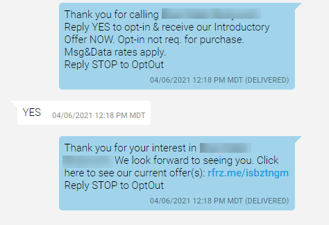 Small business text marketing