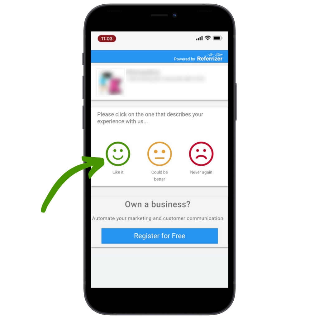 collecting online positive reviews