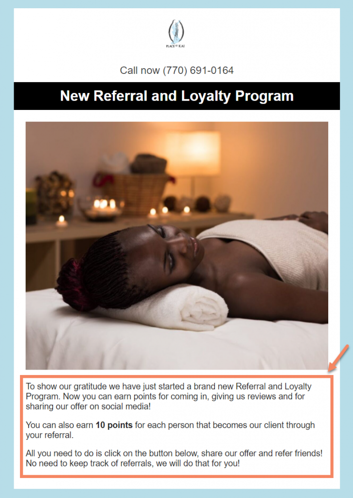refer a friend email copy
