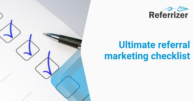 referral marketing checklist